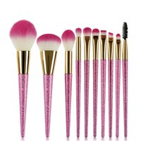 10pcs set Hot Selling Professional Makeup Brushes Set Pink B...