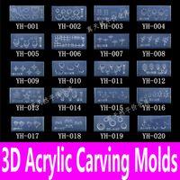 All'ingrosso-1piece del chiodo 3D Acrylic Carving muffa di arte del chiodo Modello in 139 disegni arabescati decorazioni del gel del silicone per il fai da te Adesivi all'ingrosso