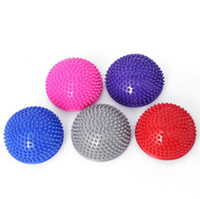 Fitness, exercise yoga foot massage PVC semi round ball pad ...