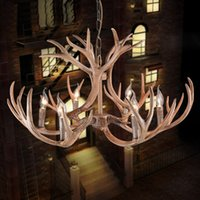 Wholesale antler chandelier buy cheap antler chandelier 2018 on 5 photos wholesale antler chandelier antique creative antlers pendant lamp antler lamp home hotel office lights deco aloadofball Image collections