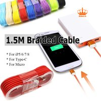 1. 5M 5FT Braided USB Micro Type C Other Cable Sync Data Char...
