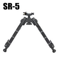 Trípode SR5 táctico de aluminio Quick Detach SR-5 QD Bipod de 20 mm picatinny rail para visor de rifle Negro