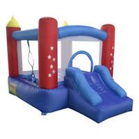Quintal Mini Bounce Casa Bouncy Castelo Inflável Bouncer Jumper Home Use Moonwalk Trampoline Brinquedos Com Blower