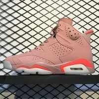 Best Quality 6 Millennial Pink Retro Basketball Shoes Men 6s...
