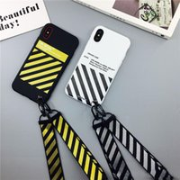 New Tide Stripe Case For iPhone X Max XR Hipster Couple Phon...