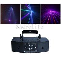 Sharelife 3 Lentille Rouge Vert Bleu Couleur DMX Faisceau Gobo Laser Light Home Gig Party DJ Projecteur Éclairage de Scène Sonore Auto H-3P