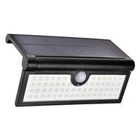 مصابيح الطاقة الشمسية في الهواء الطلق ضوء استشعار الحركة طوي الجدار السوبر مشرق 3W 58LED الأمن للماء اللاسلكية المحمولة