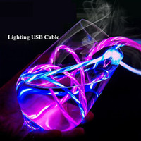 1M LED Luminous Flowing Charging Cable For Huawei Honor Note...
