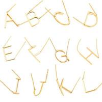 A ~ Z Anfangsbuchstabe Anhänger Halsketten für Frauen Capital 26 Englisch Alphabet Charme Gold Silber Rose Gold Ketten Female Luxury Jewelry