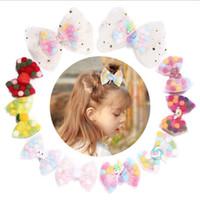 Ragazze Baby Barrette Forcine Unicorno Lollipop Barrettes Clip di Capelli Arco bambini Accessori Per Capelli maglia colorata palle copricapo KKA6843