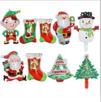 Balloon Clown Elk Foil Palloncini Natale giocattoli vacanze feste regali di natale Calze Albero del pupazzo di neve Decorazione di palloncini compleanno C6088