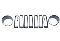 Scheinwerfer Dekoration Ring für 1819 Jeep Wrangler Jl Paar Vogelscheinwerfer Lünette Dekorative Zierabdeckung
