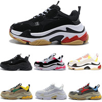 Paris 17FW Triple- S Walking Shoe Luxury Dad Shoes Chaussures...
