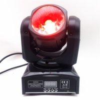 Mini 60W RGBW 4in1 ışın ana ışık mobil ışın Ana ışık mobil LED çok parlak LED DJ ışık dmx kontrol yıkamak hareketli kafa açtı