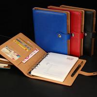 Yeni PU Deri Manyetik not defterleri Mavi / Kırmızı / Siyah Seyahat Günlüğü Gündem Ofis Okul Defterler Kişisel Hediye Kırtasiye Notepad Malzemeleri