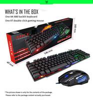 IMICE Mouse Keyboard Set Gaming Teclado Imitación Teclado mecánico con retroiluminación Wired USB Game Teclados Gamer Ratones X7