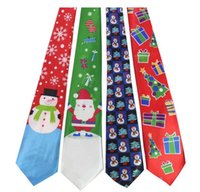 Christmas Neck Tie 2018 fashion Babbo Natale pupazzo di neve stampa Party dress up Tie 29 colori Xmas Ties B11