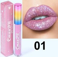 Cmaadu Glitter Flip brillo de labios Velvet Matte Lip Tint 6 colores Impermeable Duradero Diamond Flash Shimmer Liquid Lipstick DHL