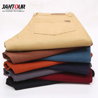 Jantour Brand Men' s Summer Thin 98% Cotton Pants Men Bu...