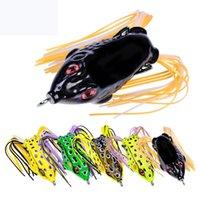 Nueva artificial Ray rana de goma pesca con cebo ganchos 5.2cm 8.5g Likelife rana señuelo topwater bass