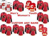 Calgary Flames jerseys Alan Quine Jersey Derek Ryan Rasmus Andersson TJ Brodie Oscar Fantenberg Rojo Blanco hockey sobre hielo de los jerseys cosido personalizada