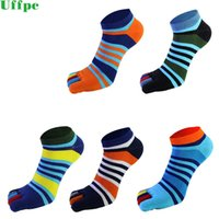 3 Pairs lots summer Men Socks Boys Cotton Finger Breathable Five Toe Socks Pure Sock Ideal for Five 5 Finger Toe Shoes