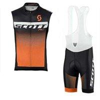 Yeni 2020 Scott Pro Takım Bisiklet Kolsuz Formalar Set Yol Bisikleti Giyim Hızlı Kuru Yaz Yarış Bisiklet Spor K121109