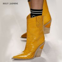 2019 Spring New Cowboy Boots For Women Pointed Toe Western B...