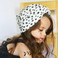 Bahar ve Yaz Yeni Doğan Bebek Çocuk Türban Şapka Nokta Bebek Düğümlü Bohemian Çocuk Hint Şapka