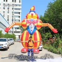Kundengebundene Parade-Leistung im Freien, die aufblasbare Clown-Marionette 3.5m Höhen-gehendes Explosions-Clown-Kostüm für Zirkusshow annonciert