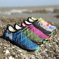 حجم 35-47 الرجال النساء أحذية الشاطئ المياه schuhe في اليوغا السباحة التجفيف السريع أكوا الأحذية الناعمة شاطىء البحر الخوض أحذية zapatos