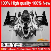 Lichaam + 8Gifts voor Yamaha YZF R6 S YZF600 YZFR6S 06 07 08 09 60HC.73 Zwart Grijs YZF-600 YZF R6S 06-09 YZF-R6S 2006 2007 2008 2009 Fairing Kit