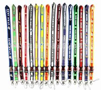 Großhandel - Baseball-Teams Neck Lanyard Keys Schlüsselanhänger Badge Holder Raptors Stier Handy Neck Straps 10pcs free ePacket