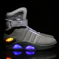 Aire 2019 Mag Zapatos Casual Marty Led Zapatos Back To The Future Glow en los zapatos gris oscuro / negro Mag Marty mcflys M1