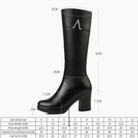 AIYUQI New Winter Genuine Leather high- heeled Mid- calf Women...