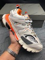 Мода Трек Tess S 3.0 Mens женщины Походная обувь Кроссовки White Orange Track 3.0 Тренер Повседневного Sneaker папа обувь Chaussures