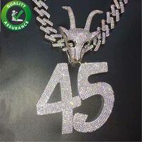 Мужские Iced Out Hip Hop Цепные подвески Роскошная Ожерелье Hiphop ювелирных изделий женщин Bling Алмазная кубинский Link Теннисные Цепи Рэппер Аксессуары