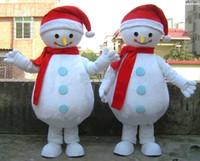 Personalizado profesional de Navidad Muñeco de nieve traje de la mascota de dibujos animados bufanda roja Blanco nieve muñeca personaje Ropa Fiesta de Halloween Fiesta de disfraces