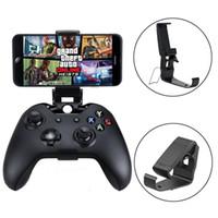 Clip Holder teléfono celular móvil para Xbox Un controlador S / Delgado palanca de mando Monte empuñadura Soporte para Xbox One Gamepad para Samsung Sony