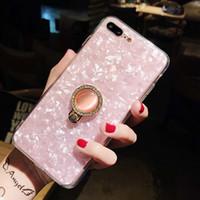 Capas de telefone móvel de tpu macio cintilante Glitter Pérola BLING Capa de suporte de titular do titular do padrão para iphone 7 8 11 Pro Max 12