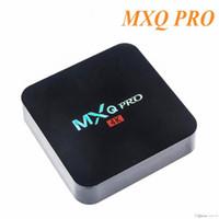 حار بيع MX2 MXQ محترفين رباعية النواة Amlgoic S905W الروبوت 7.1 TV BOX مع تخصيص KD 17.4 TV صندوق 4K ميديا بلاير