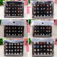 New Punk Jewelry Men Strong Magnet Magnetic Earring 12pair  ...
