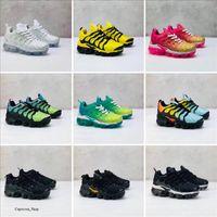 Nike Air TN Plus Lace Up 2019 TN enfants chaussures de course Triple noir blanc gris violet nourrisson Les enfants en bas âge formateurs Run garçon baskets fille