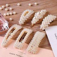 Hot Perles Barrettes pour Femmes Filles Cadeaux Saint Valentin Anniversaire Bling Hairpins Couvre-chef Outils Accessoires cheveux Barrette