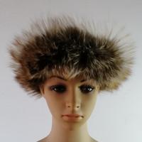 Женщина шляпа женских настоящих лисы меховые шапки голова голова взрослый девушка теплая осень зима головы кольца волос доставки волос 10 шт. / Лот бесплатная экспресс