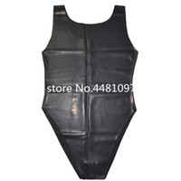 Latex Caoutchouc Body Maillots de bain Moulage Latex Teddies Teddies Unisexe BodySuits S-L