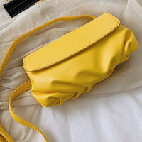 Korean Fashion Solid Color Women Shoulder Bag Pu Leather Off...