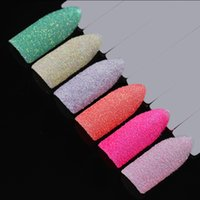 Holographic Nail Glitter Powder Shining Sugar Gradient Chrome Pigment Dust Powder Nail Art Decoration Manicure UV Gel DIY