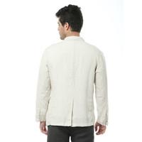 Moda-İtalya marka beyaz ceket erkekler bahar uzun kollu keten erkekler ceket saf keten moda giyim ceketler rahat jaqueta masculina
