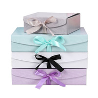 Creative Party Gift Boxes with Bow Custom Made LOGO Jewelry ...